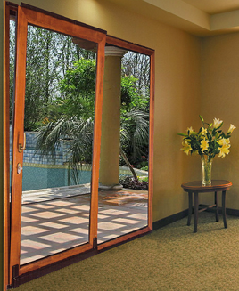 aluminum-Wood Suspended sliding door